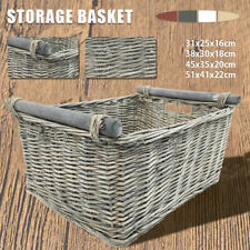 S/M/L/XL Wicker Branch Storage Basket Washing Clothes Basket Picnic Basket New