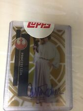 2015 Topps Tek STAR WARS, CARRIE FISHER (Princess Leia) GOLD AUTOGRAPH, #47/50