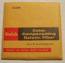 Kodak Color COMPENSADOR GELATINA Filtro N º cc10r 7.6cm OR 7.6cm Cuadrado