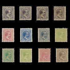 Sellos España.FILIPINAS.1890. Alfonso XIII. Serie Nuevo*.Edifil nº76-87