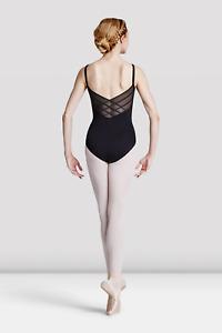 Black Bloch diamond mesh back camisole leotard - all sizes  L8820