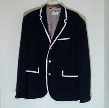 NWT! THOM BROWNE Men's Navy Wool Jacket Blazer Coat NEIMAN MARCUS/Target Large