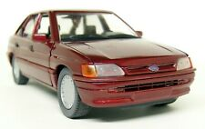 Schabak 1/24 Scale - Ford Escort Mk5 Ghia Dark Red Vintage Diecast model car