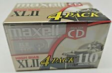 NEW Sealed 4 Pack Maxell XLII 110 High Bias Audio Tape Cassette
