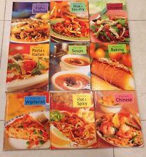 Lot Of 9 Practical Cookbooks Soups Pasta Stir Fry Baking Fish Chicken Vegetarian