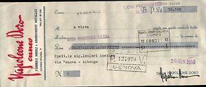 """1955 - CAMBIALE FABBRICA MOBILI """" NAPOLEONE D'ORO """" BANCA COMMERCIALE CUNEO"""