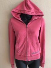 ABERCROMBIE Adirondack Pink Jacket Hoodie Sweatshirt Long Sleeve Stretch Women M