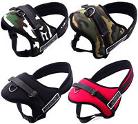 Padded Soft Pet Harness For Large Medium Dog Reflective Military Vest Collar Hot