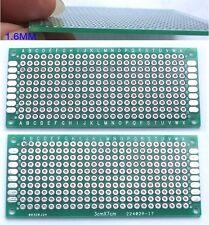 50PCS Double Side IC 3CM X 7CM PCBs Printed Circuit Board Blank DIY Soldering