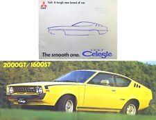 Mitsubishi Colt Celeste 1975/76 Original UK Sales Brochure Pub. No. P940(31)