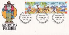 "1980 Australian Folklore """"Waltzing Matilda"""" Fdc - Mount lawley Wa 6050 Pmk"