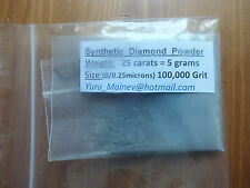 Lapidary Diamond Powder set 200K,50K,14K Mesh  polishing ,weight - 75cts