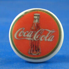 "1"" PORCELAIN CHINA BUTTON -- OLD COCA COLA SIGN"