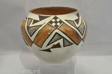 Acoma Indian Pot Black and Red on White c.1950