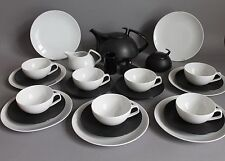 25 pc Rosenthal TAC Porcelaine Noire Tea Service Set For 7 Persons by Gropius #1