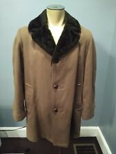 Men's Casualcraft Casual Sherpa Lined Heavy Coat Jacket Size (40) Regular, Brown