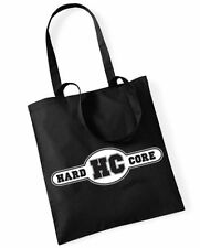 HARDCORE MUSIC Cotton Bag Stoffbeutel schwarz