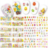 Easter Nail Art Water Decals Wraps Stickers Bunny Rabbits Chicks Bows Eggs