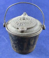 Antique Miniature German Cast Iron Glue Pot THE HOME Good Luck Swastika Bottom