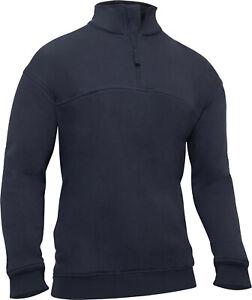 Heavy duty Long Sleeve Firefighter EMS 1/4 Zip Work Shirt