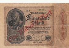 Billet banque ALLEMAGNE GERMANY 1000 MARK 1922 état voir scan 231