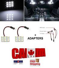 2x White 9SMD Led Panel Dome Light Interior Lamp 12V + BA9S T10 Festoon Adapters