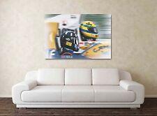 Ayrton Senna & Damon Hill 30x20 Inch Canvas - F1 Farmed Formula One Picture