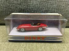 JAGUAR E-TYPE ROADSTER RED WITH BROWN INTERIOR 1:43 MATCHBOX DINKY * VGC BOXED *