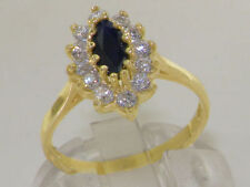 Marquise Sapphire Yellow Gold Fine Rings