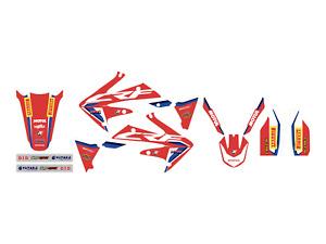 kit adesivi moto grafiche Hrc Honda Crf r 250 2004 2005 2006 2007 2008 2009 set
