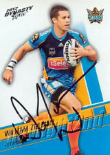✺Signed✺ 2012 GOLD COAST TITANS NRL Card WILLIAM ZILLMAN