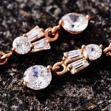 womens long earrings rose gold Plate fashion jewelry crystal dangle earrings