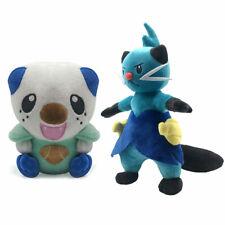 2PCS Pokemon Oshawott and Dewott Figure Stuffed Soft Doll Plush Aninal Toy Gift