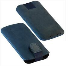 Für Nokia E63, N97, N8 Handy ECHT LEDER Tasche / Case / Etui / Nubuk Blau NEU