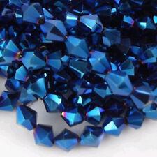 150 pcs 3mm Crystal Bincone/Rondel Loose Beads/ metallic lustre color on Sale