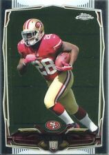 TOPPS Chrome Football 2014 ROOKIE CARD #158 CARLOS Hyde-San Francisco 49ers