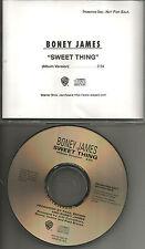 BONEY JAMES Sweet thing 1992 USA Rare PROMO Radio DJ CD single MINT PROCD8922
