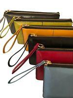 Ladies Large Wristlet Zip Phone Coin/ Card Purse Clutch Bag - Choice of Colours