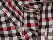 $60.Jos A. Bank 100% Cotton Multi-Color Check Luxury Casual Dress Shirt L