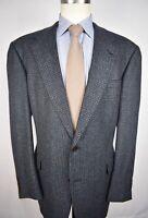 Hart Schaffner Marx Blue/Yellow Glen Check Flannel Wool Sport Coat Size: 46L