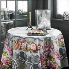 "BEAUVILLE, ARNE DU MILLENAIRE GRAY FRENCH TABLECLOTH, 67"" x 106"", NEW IN BOX"