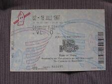 U2 TICKET STUB Rotterdam Holland First Night Pop Mart Europe Tour 1997 ORIGINALE!