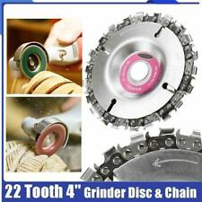 4 pollici SMERIGLIATRICE ANGOLARE DISCO dente motosega per intaglio strumento di plastica legno culpting