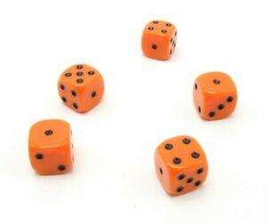 Perudo Orange Dice Replacement Game Part Piece Plastic 2008 1808 Rounded Corners