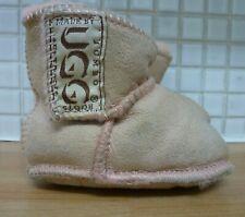 UGG Australia Baby Suede Sheepskin Jumbo Boots Beige Peach Uk Freepost