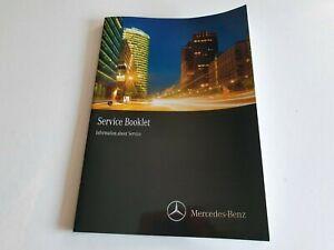 NEW GENUINE MERCEDES A B CLASS GLA CLA SERVICE INFO BOOKLET - A2055843203