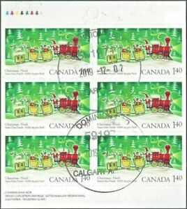 Canada  # 2071a  Bk 300    Santa In a Train    Brand New 2004 Cancelled Booklet