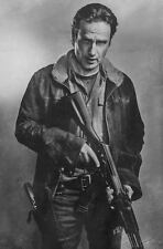 A3 Walking Dead Poster – Rick Grimes Black & White (Picture Zombie Daryl Negan)
