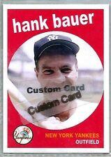 HANK BAUER NEW YORK YANKEES 1959 STYLE CUSTOM MADE BASEBALL CARD