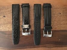 Tommy Bahama Black Leather Watch Straps 22 mm (2)